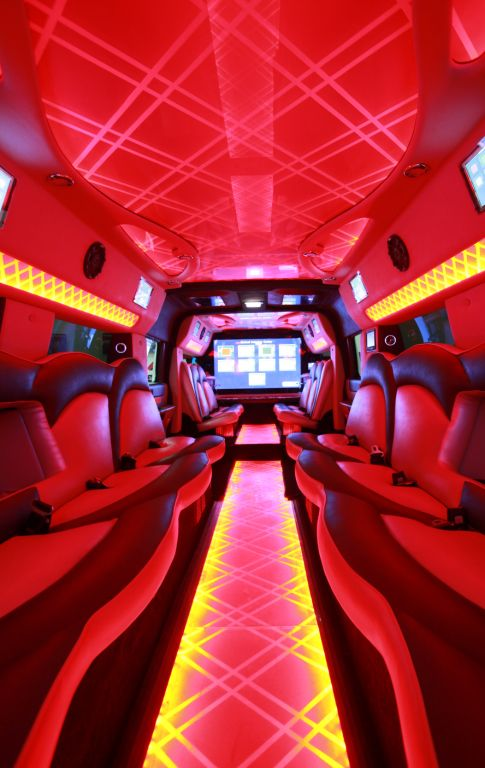 White Penthouse 22 Seater Stretch Hummer H2 Limousines